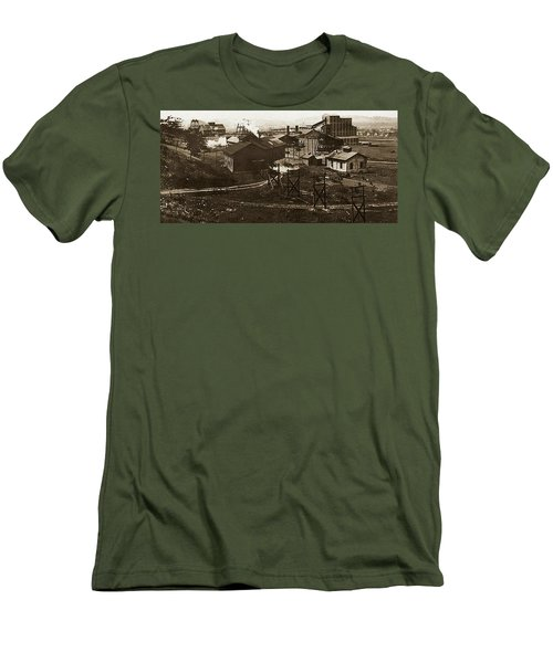 Mineral Springs Colliery Parsons Gravel Hill Scranton Patch Area Of Wilkes Barre Pa 1913 Men's T-Shirt (Athletic Fit)