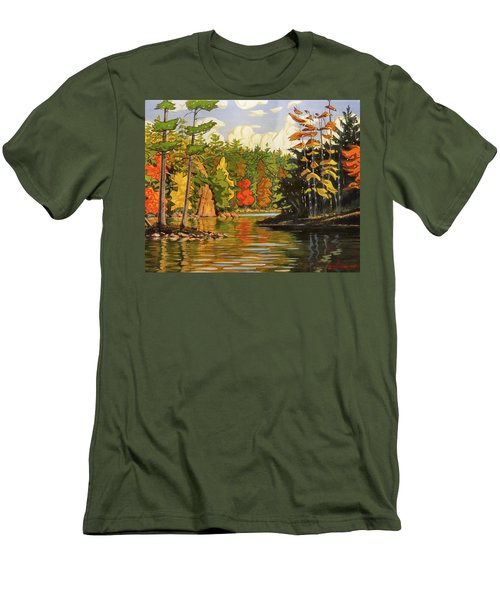 Mink Lake Narrows Men's T-Shirt (Athletic Fit)