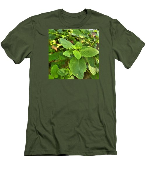 Men's T-Shirt (Slim Fit) featuring the photograph Minnesota Plant Life by Lisa Piper