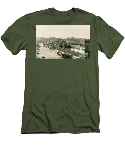 Men's T-Shirt (Athletic Fit) featuring the photograph Miramar Pool, 1927 by Cole Thompson