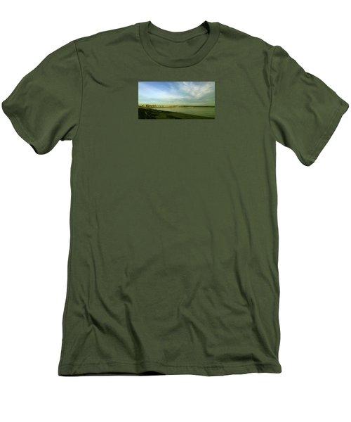 Mirror Calm Men's T-Shirt (Slim Fit) by Anne Kotan