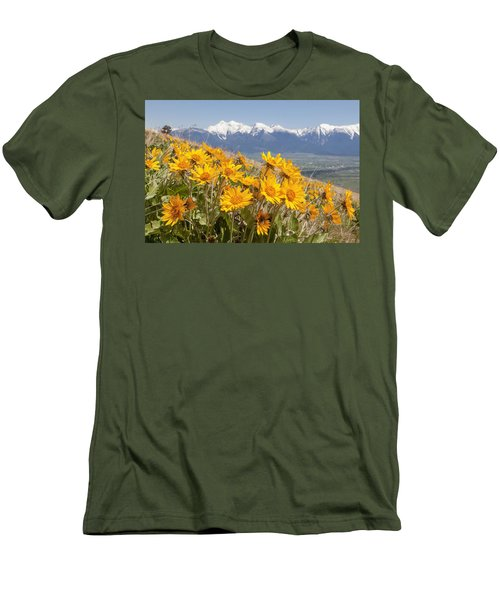 Mission Mountain Balsam Blooms Men's T-Shirt (Slim Fit) by Jack Bell