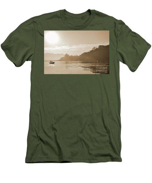 Misty Morning 2 Men's T-Shirt (Slim Fit) by Kiran Joshi
