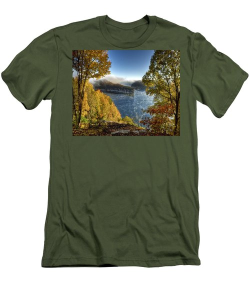 Misty Morning Men's T-Shirt (Slim Fit) by Mark Allen