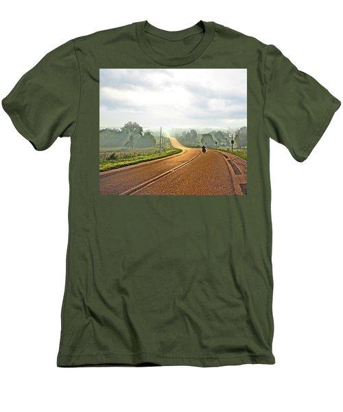 Misty Morning Ride Arkansas Men's T-Shirt (Athletic Fit)