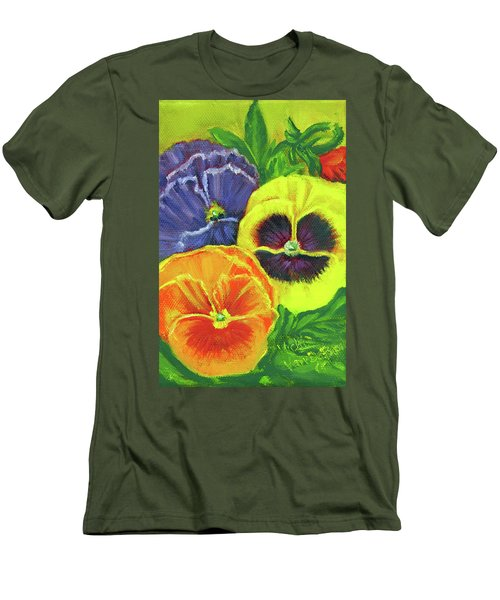 Mixed Pansy  Men's T-Shirt (Athletic Fit)
