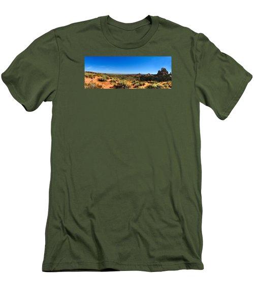 Moab Retrospective Men's T-Shirt (Slim Fit) by Laura Ragland