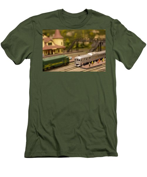 Men's T-Shirt (Slim Fit) featuring the photograph Model Trains by Patrice Zinck