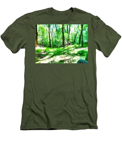 Men's T-Shirt (Athletic Fit) featuring the photograph Mohegan Lake Forever Green by Derek Gedney