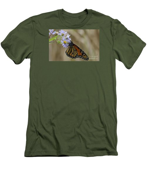 Men's T-Shirt (Slim Fit) featuring the photograph Monarch 2015 by Randy Bodkins