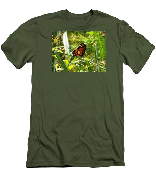 Monarch Men's T-Shirt (Slim Fit) by Audrey Van Tassell