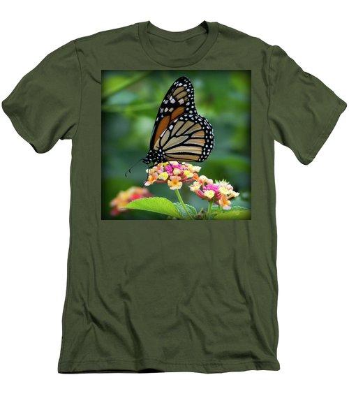 Monarch Butterfly Art II Men's T-Shirt (Athletic Fit)
