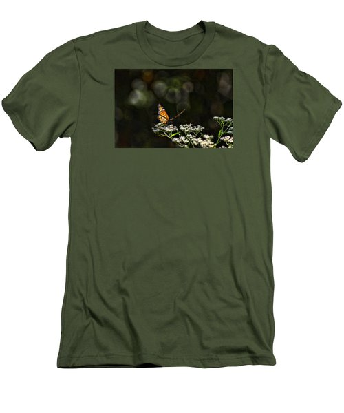 Monarch Butterfly Men's T-Shirt (Slim Fit) by Rick Friedle