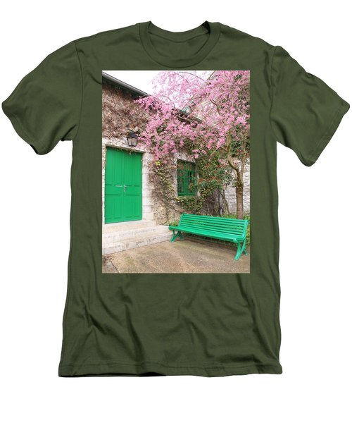 Monet's Bench Men's T-Shirt (Slim Fit) by Catherine Alfidi