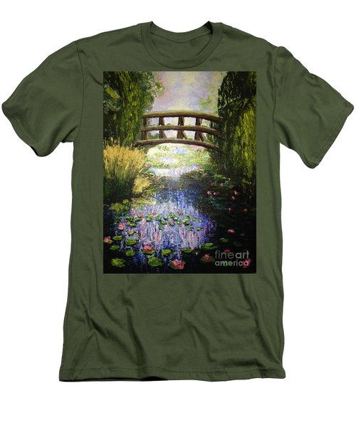 Monet's Bridge Men's T-Shirt (Athletic Fit)