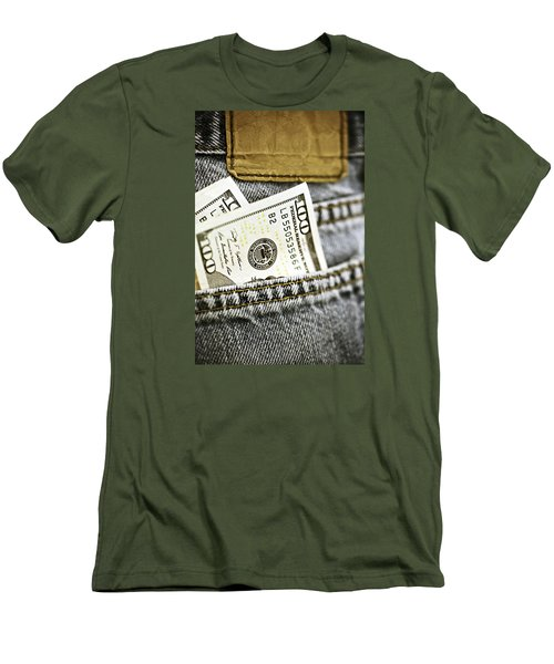 Men's T-Shirt (Slim Fit) featuring the photograph Money Jeans by Trish Mistric