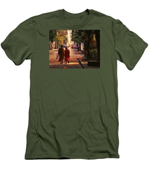 Monk Mates Men's T-Shirt (Slim Fit) by Cameron Wood