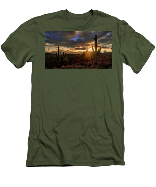 Men's T-Shirt (Slim Fit) featuring the photograph Monsoon Sunburst by Anthony Citro