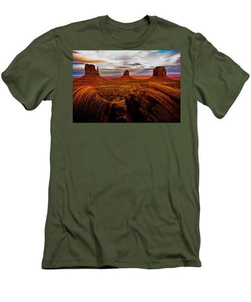 Men's T-Shirt (Slim Fit) featuring the photograph Monument Valley by Harry Spitz