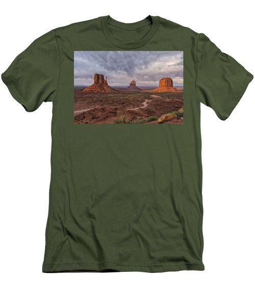 Monument Valley Mittens Az Dsc03662 Men's T-Shirt (Slim Fit) by Greg Kluempers