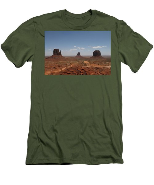 Monument Valley Navajo Park Men's T-Shirt (Slim Fit) by Christopher Kirby