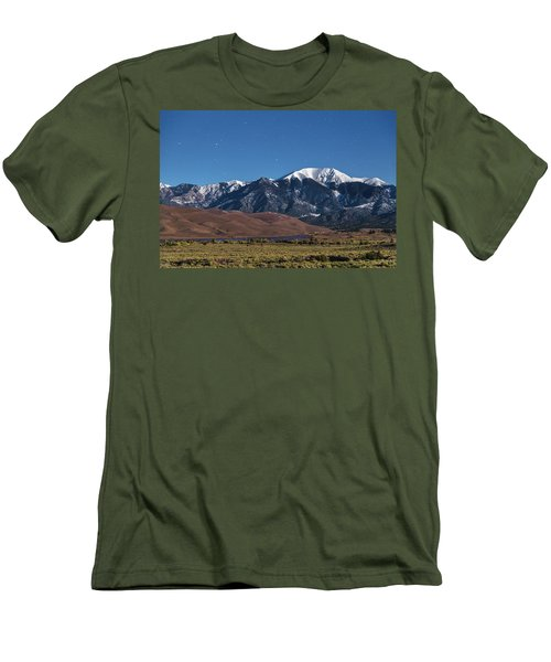 Moon Lit Colorado Great Sand Dunes Starry Night  Men's T-Shirt (Slim Fit) by James BO Insogna