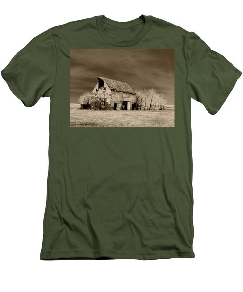 Moon Lit Sepia Men's T-Shirt (Slim Fit) by Julie Hamilton