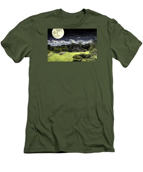 Moon Over Mayan Temple One Men's T-Shirt (Athletic Fit)