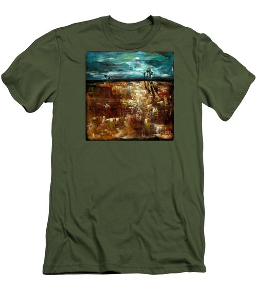 Moonlight Over The Marsh Men's T-Shirt (Slim Fit)