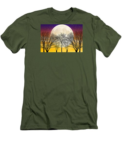 Moonlight Men's T-Shirt (Slim Fit) by Swank Photography