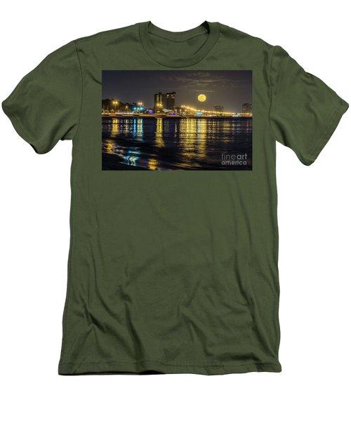 Moonrise Over Biloxi Men's T-Shirt (Athletic Fit)
