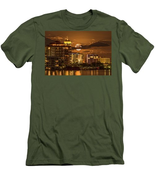 Moonrise Over Sarasota Men's T-Shirt (Athletic Fit)