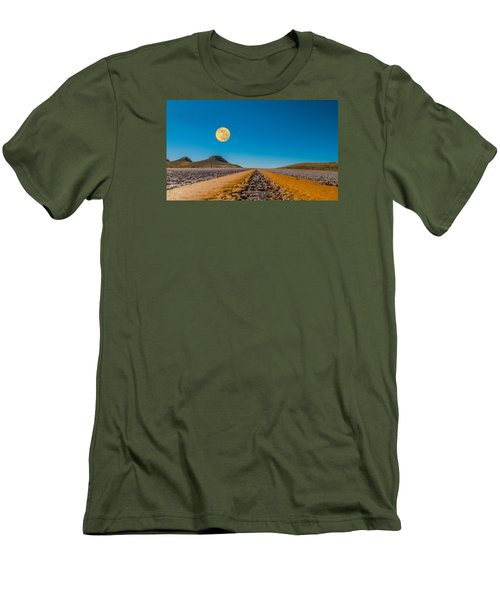 Moonrise Wyoming Men's T-Shirt (Slim Fit) by Don Spenner