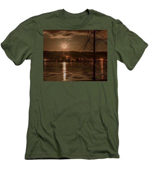 Moonset On Conesus Men's T-Shirt (Athletic Fit)