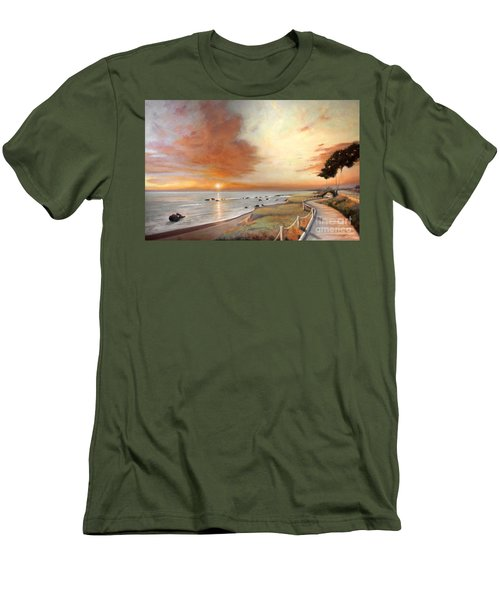 Moonstone Cambria Sunset Men's T-Shirt (Slim Fit) by Michael Rock