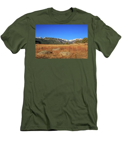 Men's T-Shirt (Slim Fit) featuring the photograph Moraine Park In Rocky Mountain National Park by Peter Ciro