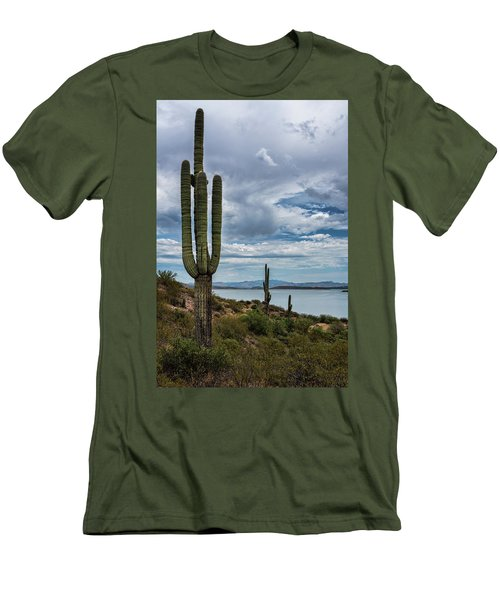 Men's T-Shirt (Athletic Fit) featuring the photograph More Beauty Of The Southwest  by Saija Lehtonen