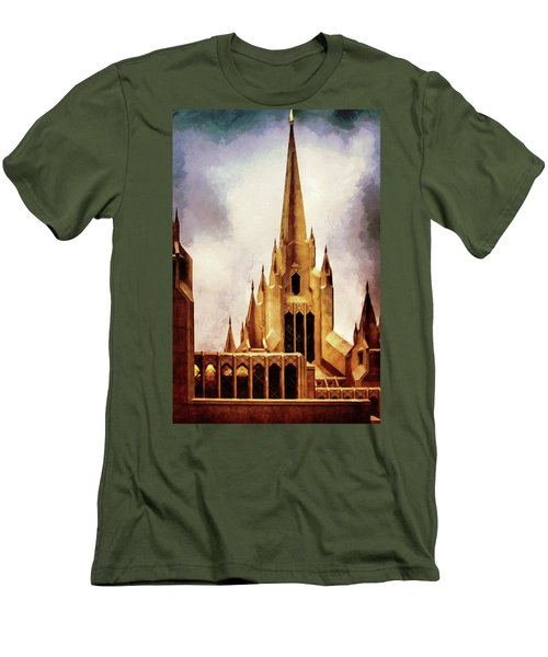 Mormon Temple Steeple Men's T-Shirt (Athletic Fit)