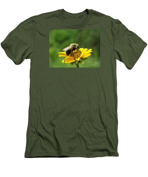 Men's T-Shirt (Slim Fit) featuring the photograph Morning Bee by Susan  Dimitrakopoulos