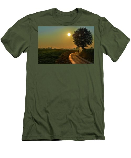 Morning Dew In Color Men's T-Shirt (Athletic Fit)