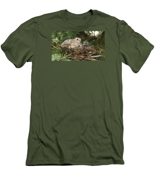 Morning Dove And Two Babys #2 Men's T-Shirt (Athletic Fit)