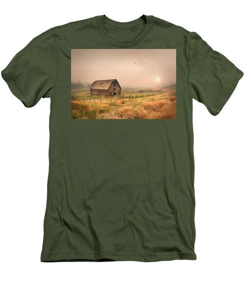 Men's T-Shirt (Slim Fit) featuring the photograph Morning Flight by John Poon