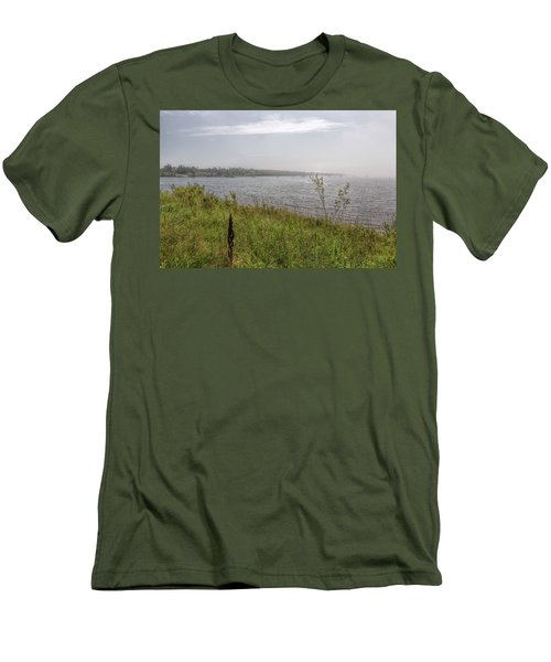 Men's T-Shirt (Athletic Fit) featuring the photograph Morning Fog by John M Bailey