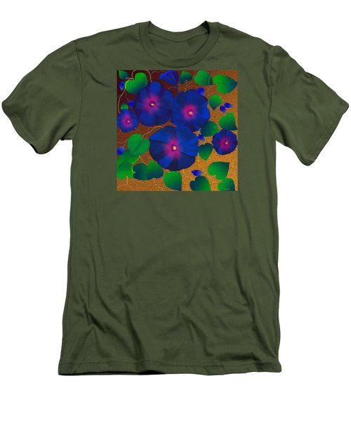 Men's T-Shirt (Slim Fit) featuring the digital art Morning Glory by Latha Gokuldas Panicker