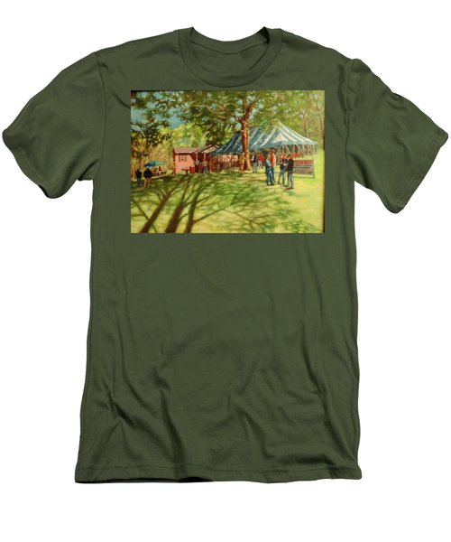 Morning In Ringgold Men's T-Shirt (Slim Fit) by Janet McGrath