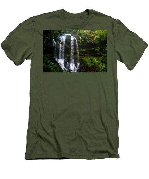 Morning In The Mist Men's T-Shirt (Slim Fit) by Allen Carroll