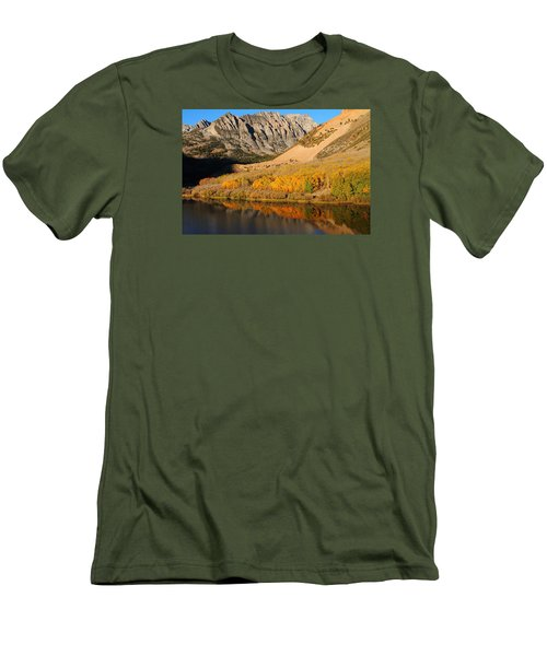 Morning Light At North Lake In The Eastern Sierras Men's T-Shirt (Slim Fit) by Jetson Nguyen
