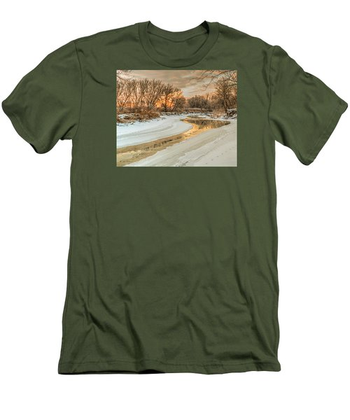Morning Light On The Riverbank Men's T-Shirt (Athletic Fit)