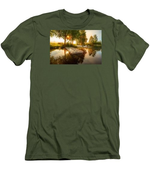 Men's T-Shirt (Slim Fit) featuring the photograph Morning Light by Rose-Maries Pictures