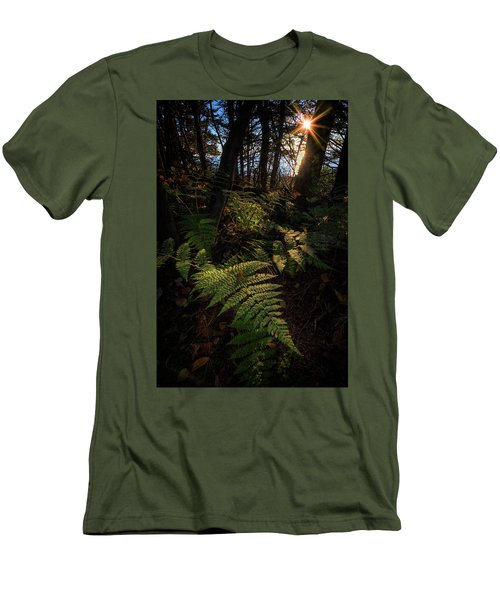 Men's T-Shirt (Athletic Fit) featuring the photograph Morning On The Coastal Trail by Rick Berk